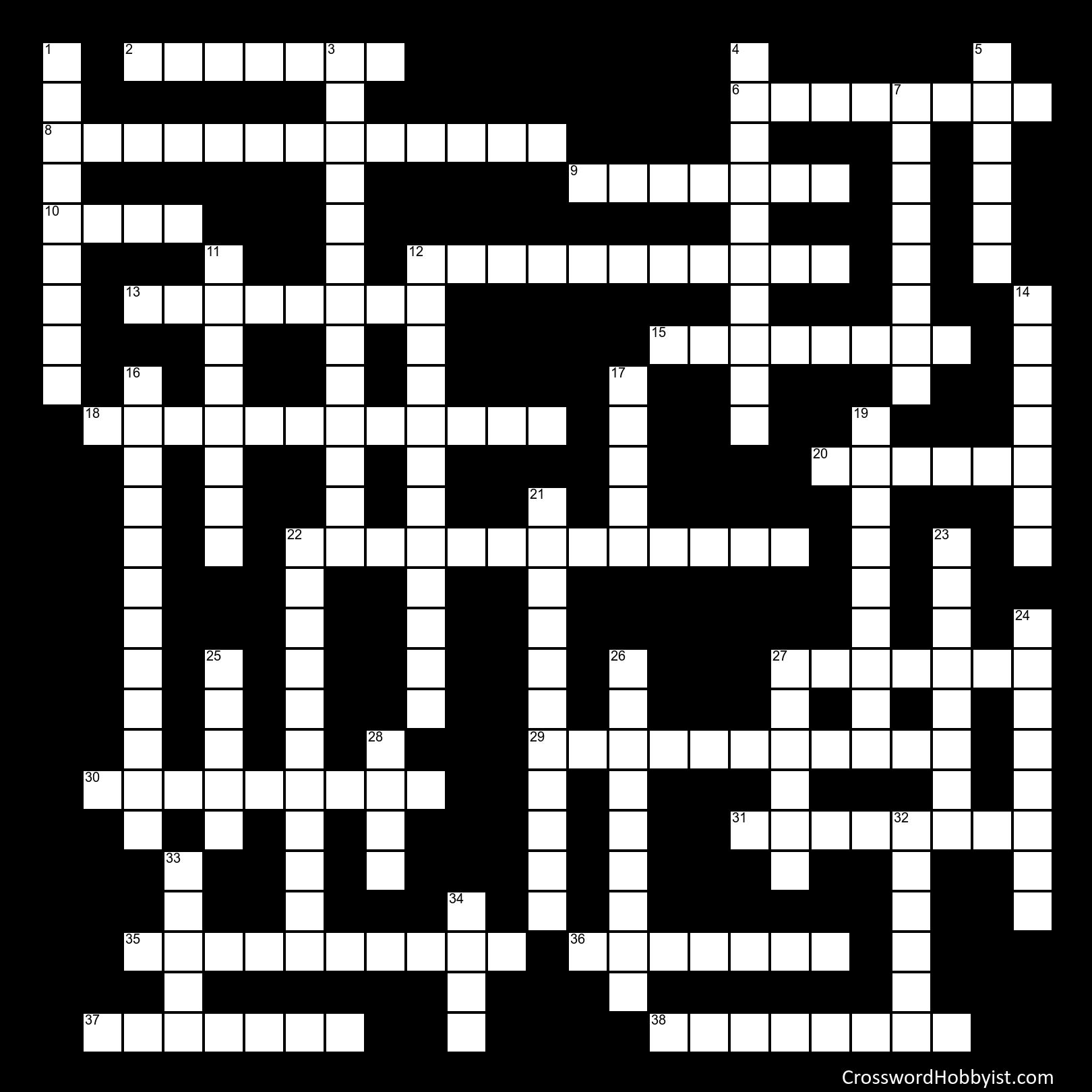 50 States - Crossword Puzzle