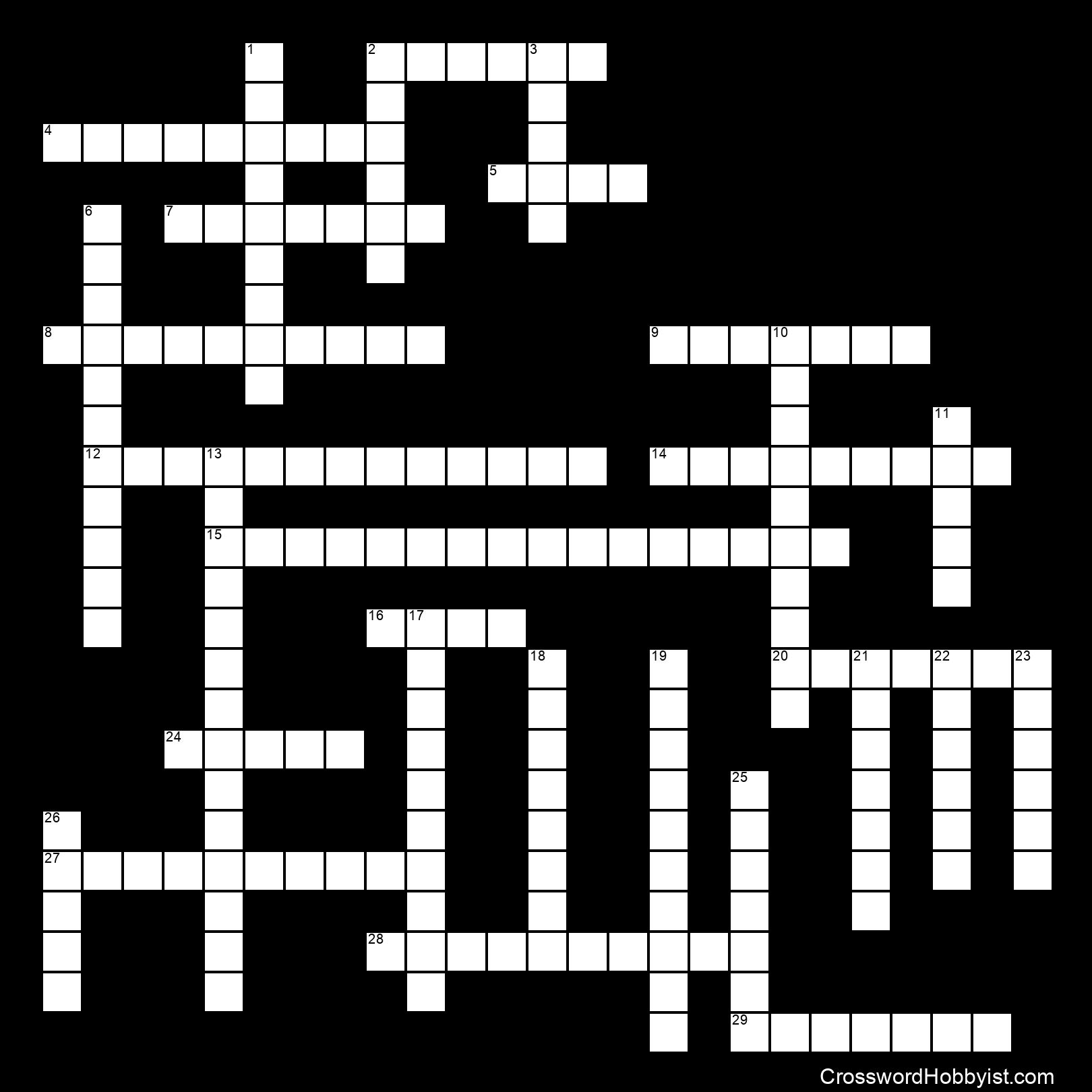 Ancient Egypt Vocabulary - Crossword Puzzle
