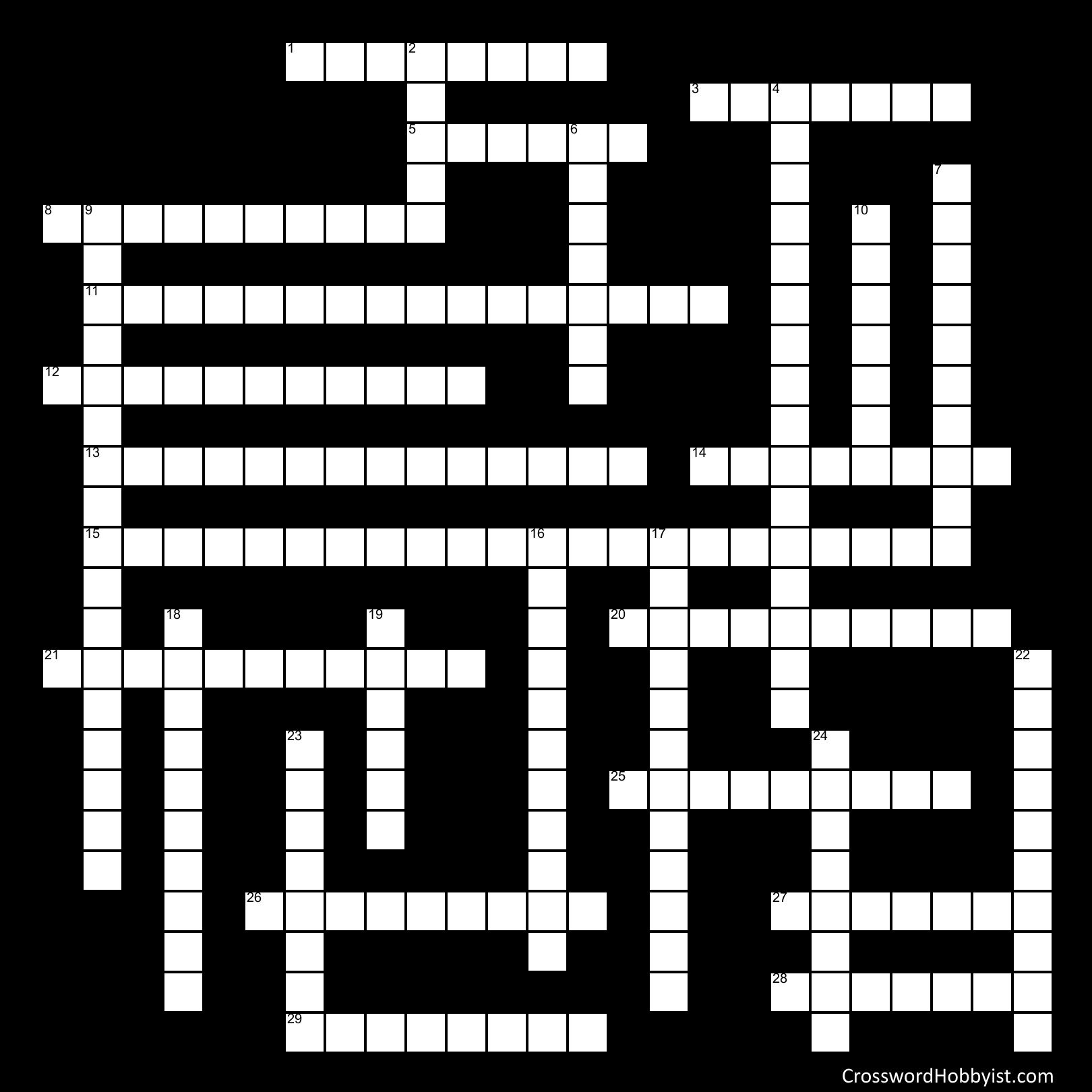 Chapter 23 Facials   Crossword Puzzle