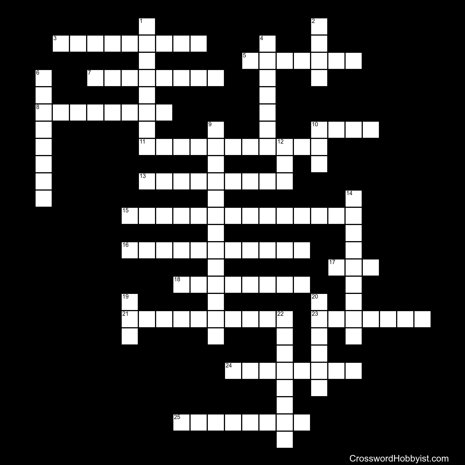 End of Life - Crossword Puzzle