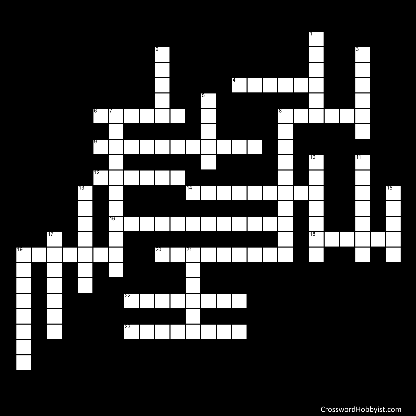 Harry Potter and the Chamber of Secrets - Crossword Puzzle