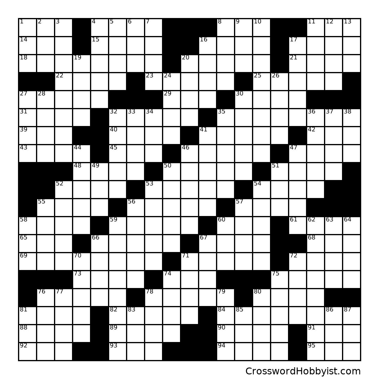No Theme #2 * ** her - Crossword Puzzle