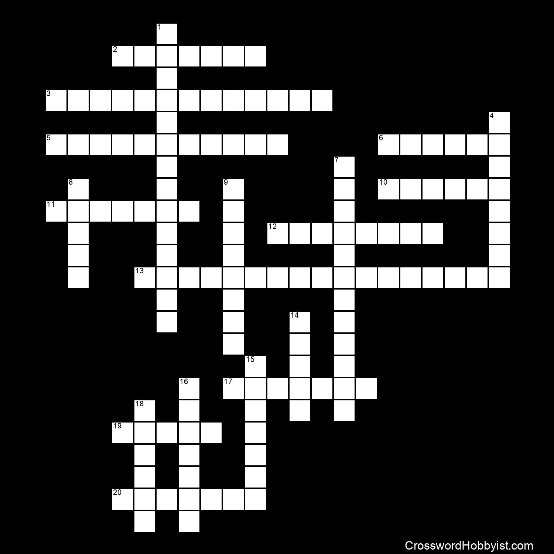 Ocean Divisions and Zones - Crossword Puzzle