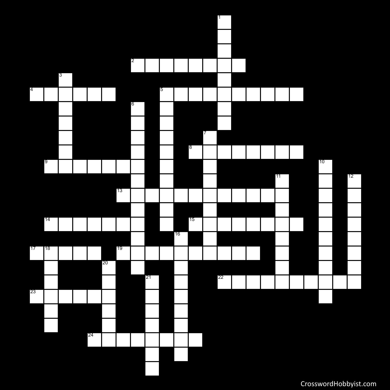 Spelling Bee Words Week 3 - Crossword Puzzle