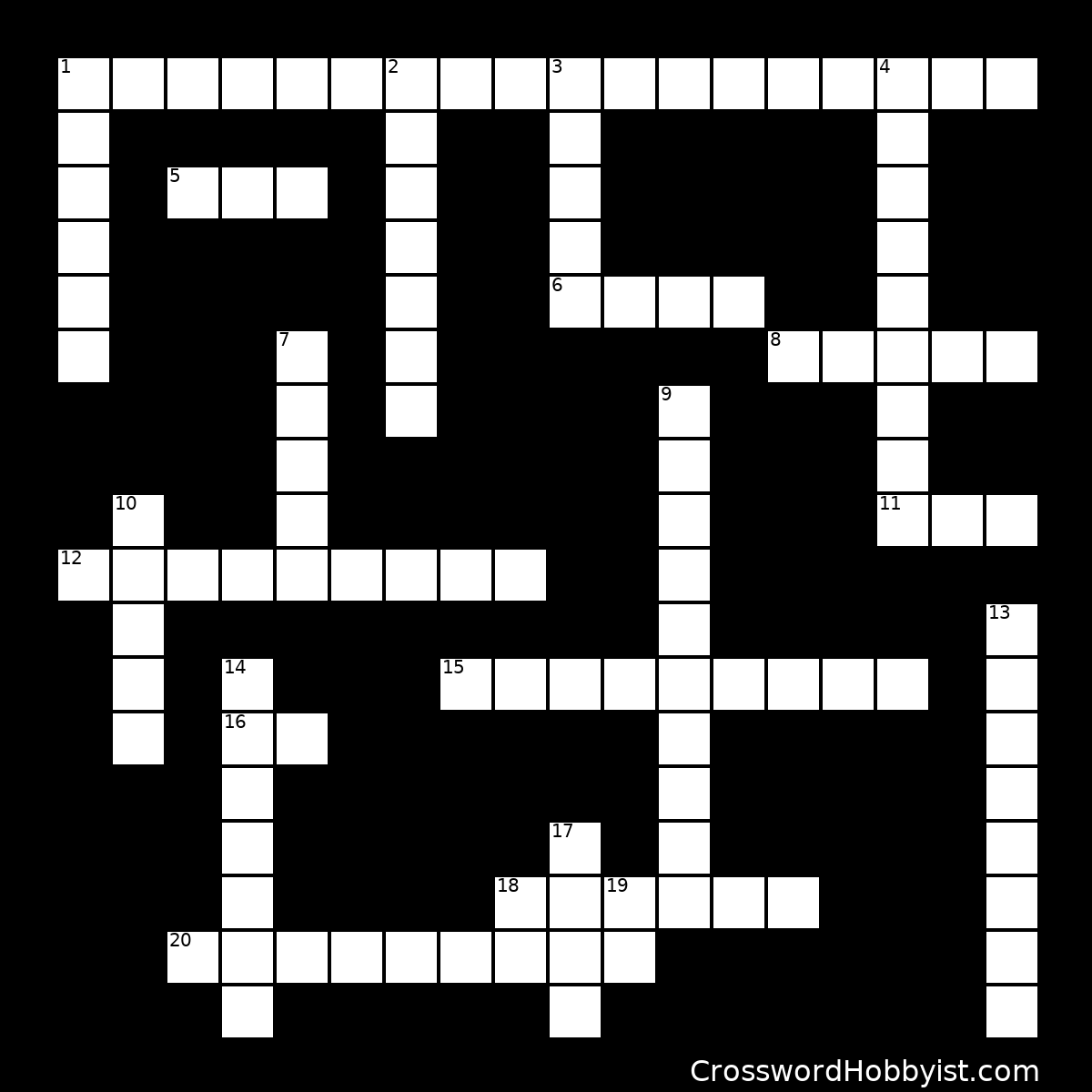 Texas Crossword Puzzle - Crossword Puzzle