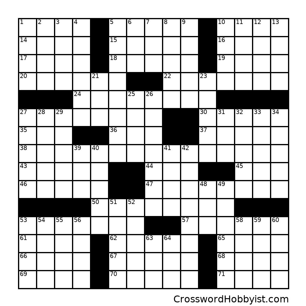 Untitled #247 - Crossword Puzzle
