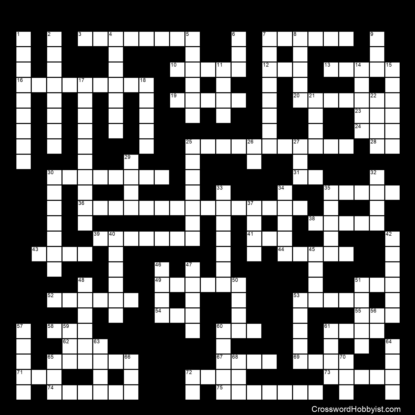 The 1950s Crossword Puzzle